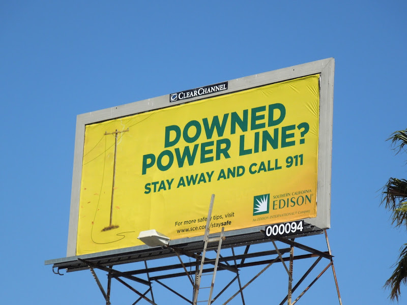 Downed powerline billboard