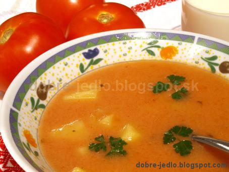 Rajčinová polievka so zemiakmi - recepty