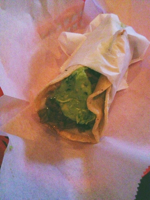 My Underdog Taco - with carne asada, guac, Monterey jack cheese