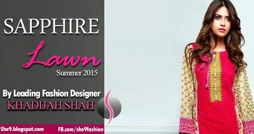 Khadijah Shah's Designs Sapphire Lawn