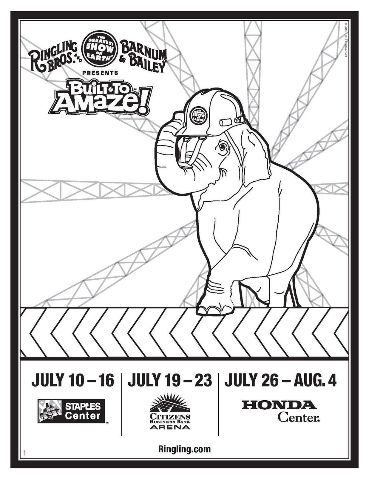 built to amaze circus show schedule plus free coloring sheets