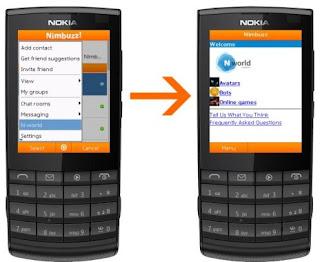 Обновление Nimbuzz Mobile для телефонов Java