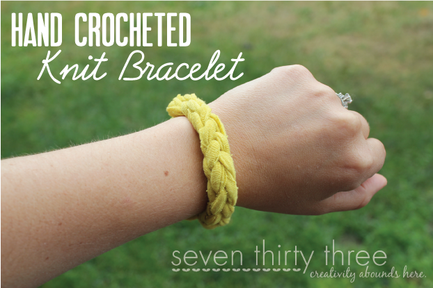Crocheting Using Your Hands : Hand Crocheted Bracelet & Headband - seven thirty three