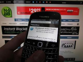 RIM BlackBerry Screen Reader launched for visually impaired mobile users