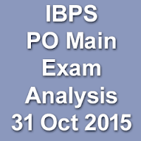 IBPS PO Main Exam Analysis for 31st October 2015