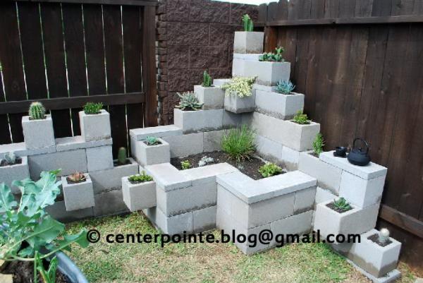 jardim vertical bloco : jardim vertical bloco:Existem no mercado alguns modelos prontos como Pé de Concreto (foto