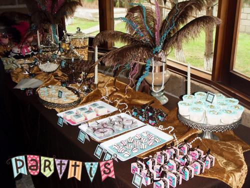Parttis haz t misma tu mesa de dulces postres botanas for Como se pone la mesa