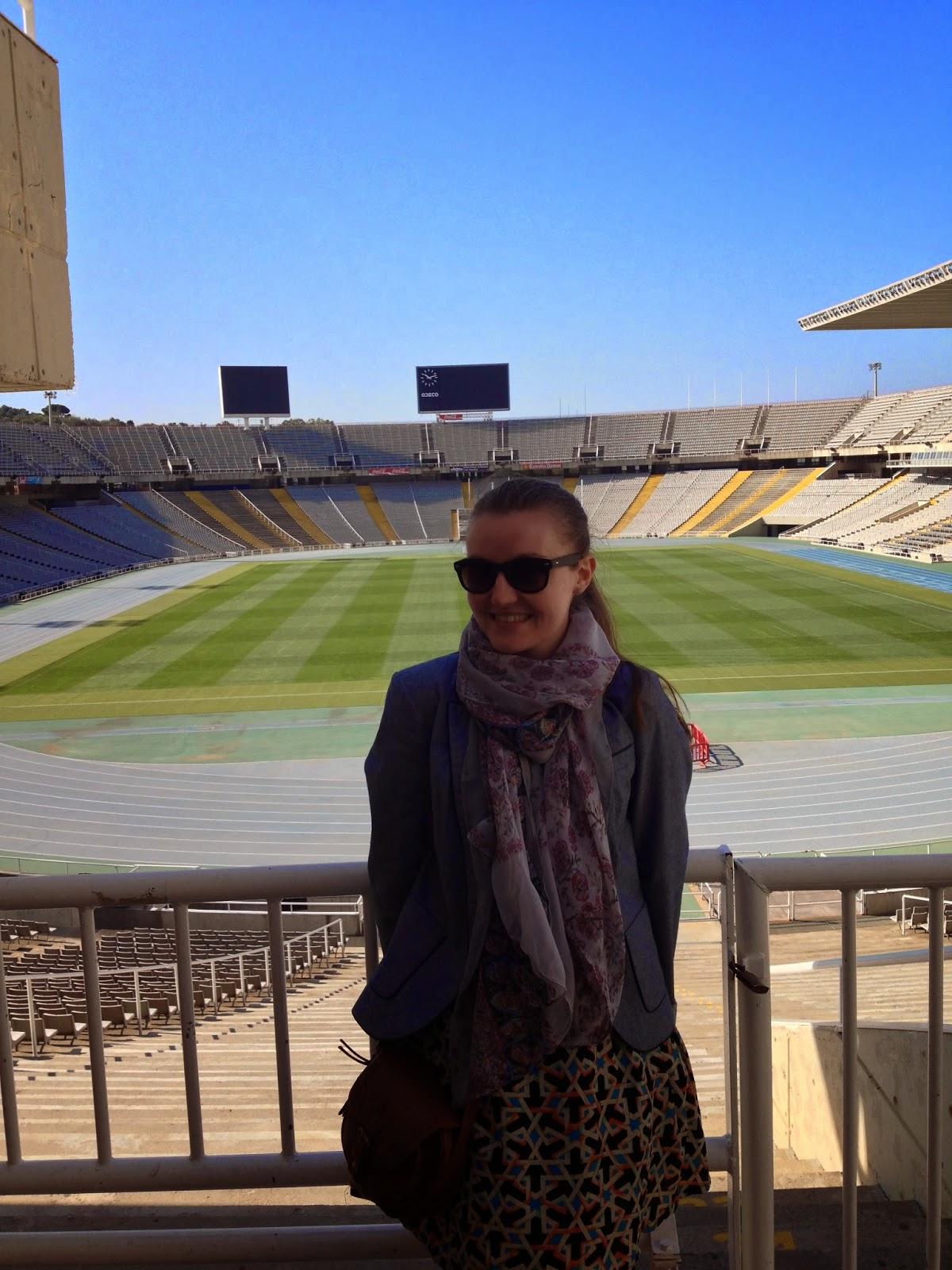 olympic stadium barcelona april