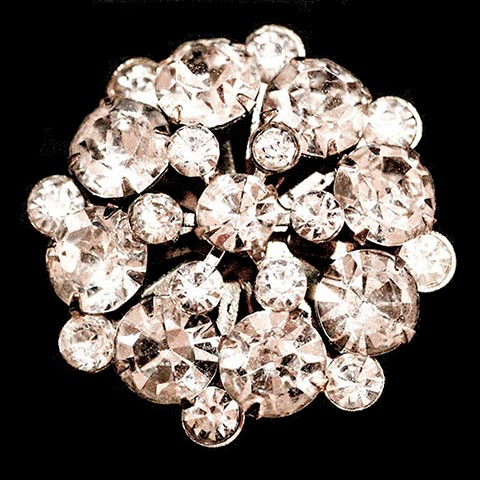 Antique Round Rhinestone Pin