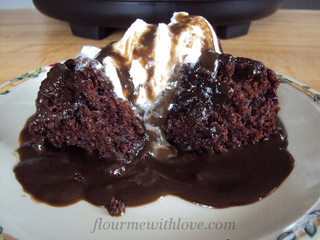 Flour Me With Love: Slow-Cooker Chocolate Pudding Cake