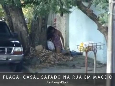 Casal Safado na rua em Maceio