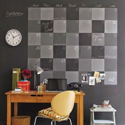 duży kalendarz na ścianie 2015 diy
