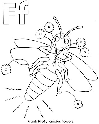 In the night garden coloring pages free for Firefly coloring page