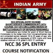 NCC 36 notification by Indian Army