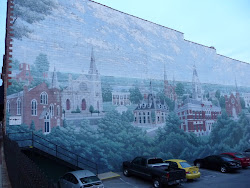 Mural on a Building Wall of Old Clarksville