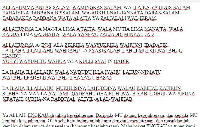 Citaten Rumi Dan Jawi : Wirid selepas solat rumi berita setiap hari