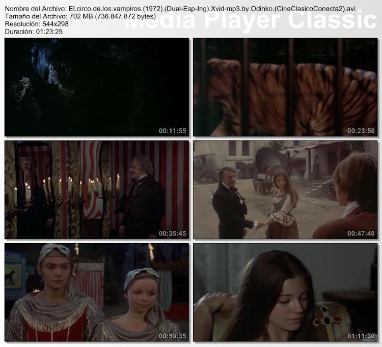 El circo de los vampiros | 1972 | Vampire Circus | Secuencias de la película