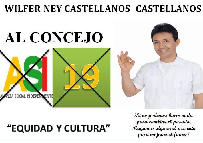 Wilfer Ney Castellanos ASI19 al Concejo de Cúcuta Apóyeme con su voto « video ☼ #FélixContrerasTV