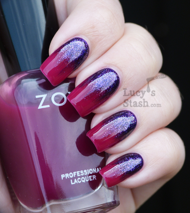 Lucy's Stash - Zoya Mimi over Paloma gradient