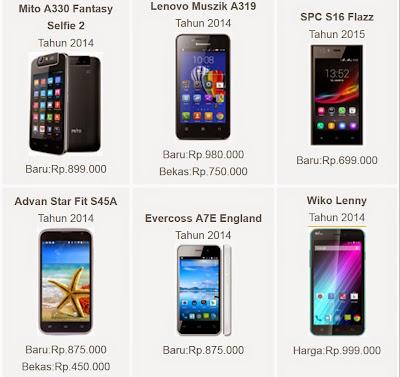 HP Android Dibawah 1 Juta Terbaru