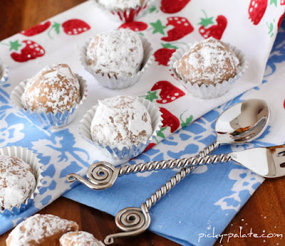 peanut butter and jelly crunch truffles recipe by picky palate