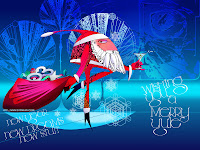 funny Santa Claus Wallpaper
