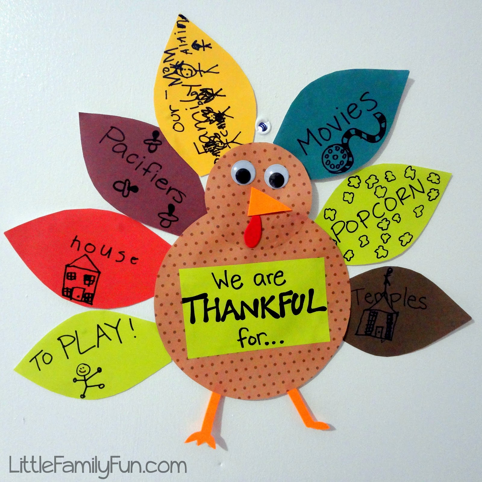 Gratitude turkey 2012 thanksgiving tradition for Thankful crafts for kids