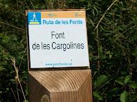 Placa indicativa de la Font de les Cargolines