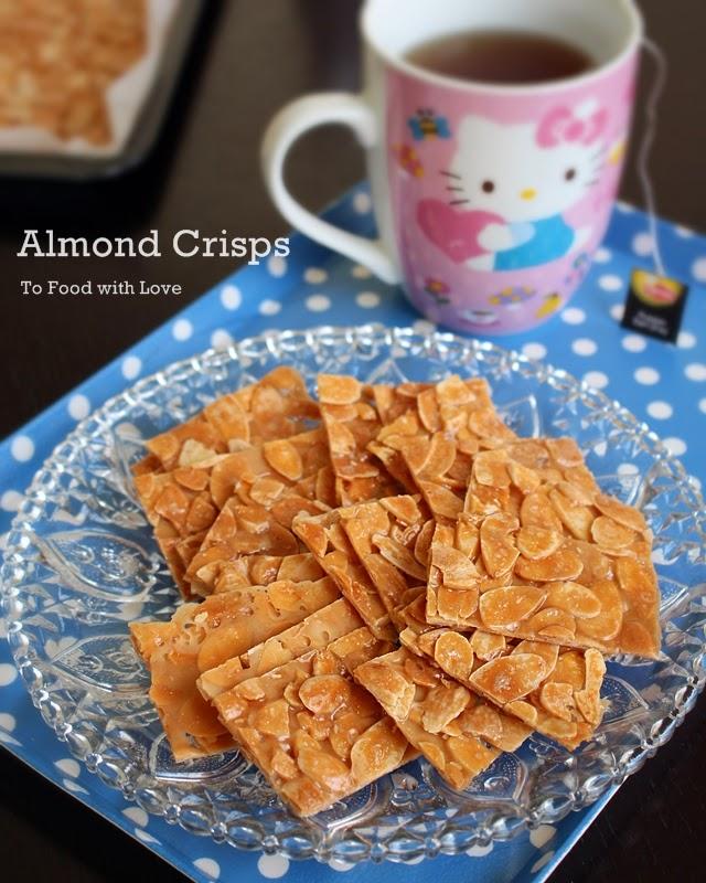 almond crisps (almond brittle)