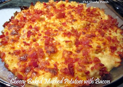 Baked Mashed Potatoes with bacon  and cheese