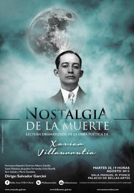 "Lectura dramatizada ""Nostalgia de la muerte"" dirigida por Salvador Garcini"