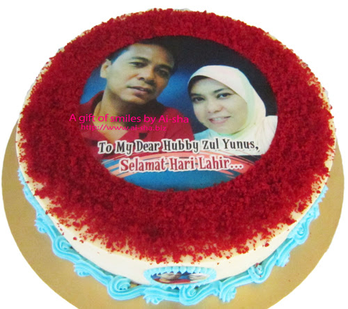 Red Velvet Birthday Cake with Edible Image