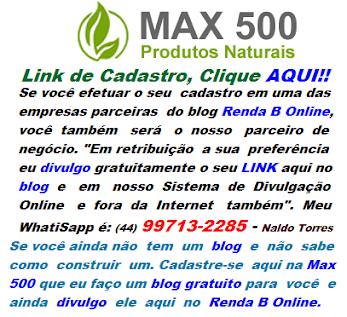 CADASTRE-SE AQUI NA MAX 500