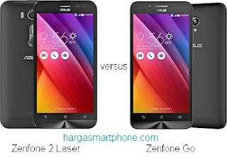 Harga dan Perbedaan Zenfone 2 Laser ZE500KG dengan Zenfone Go ZC500TG