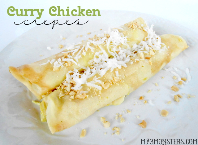 Curry Chicken Crepes recipe at my3monsters.com