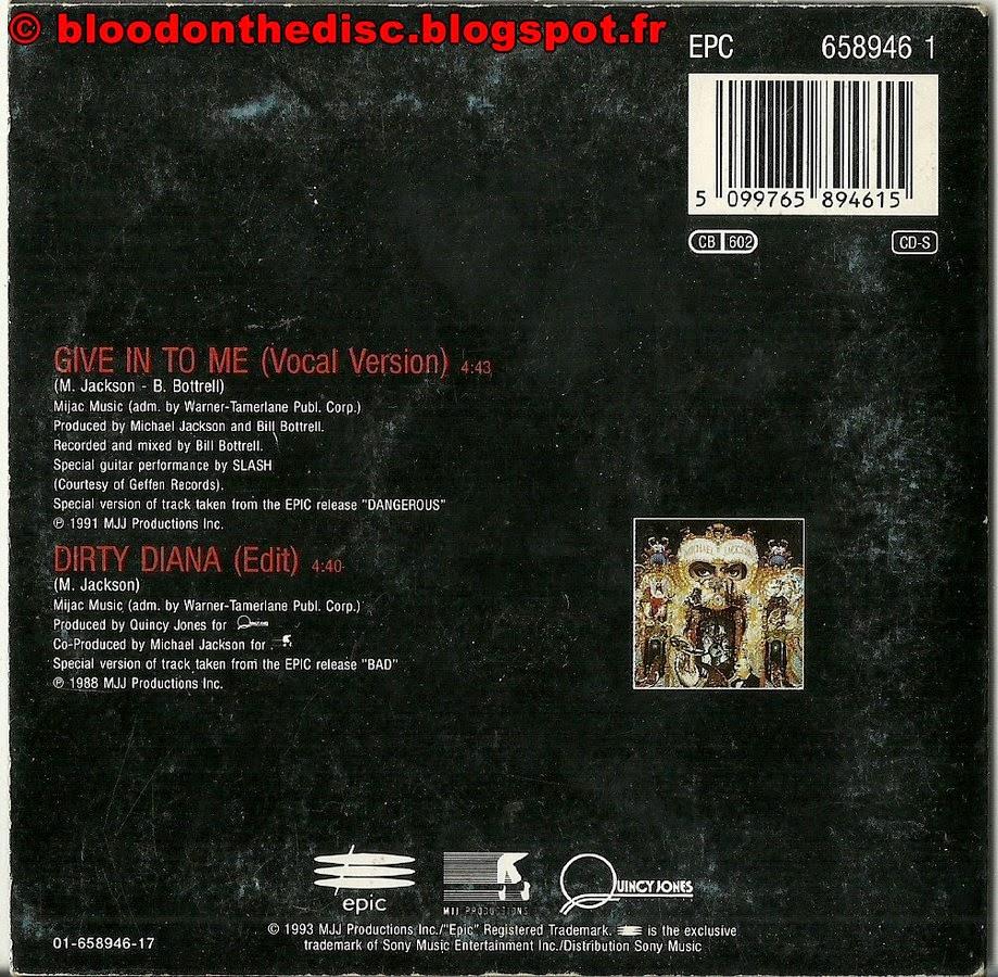 CD 2T de Give In To Me Arrière