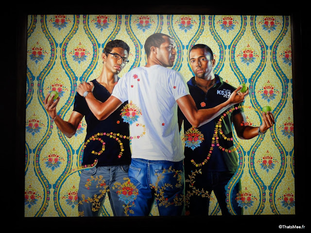The three Graces by Kehinde Wiley, Expo Hip-Hop Institut du Monde Arabe Akhenaton Paris