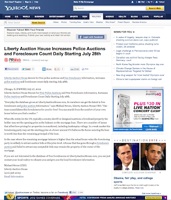 Liberty Auction House Featured on Yahoo News for Free Police Auction Information