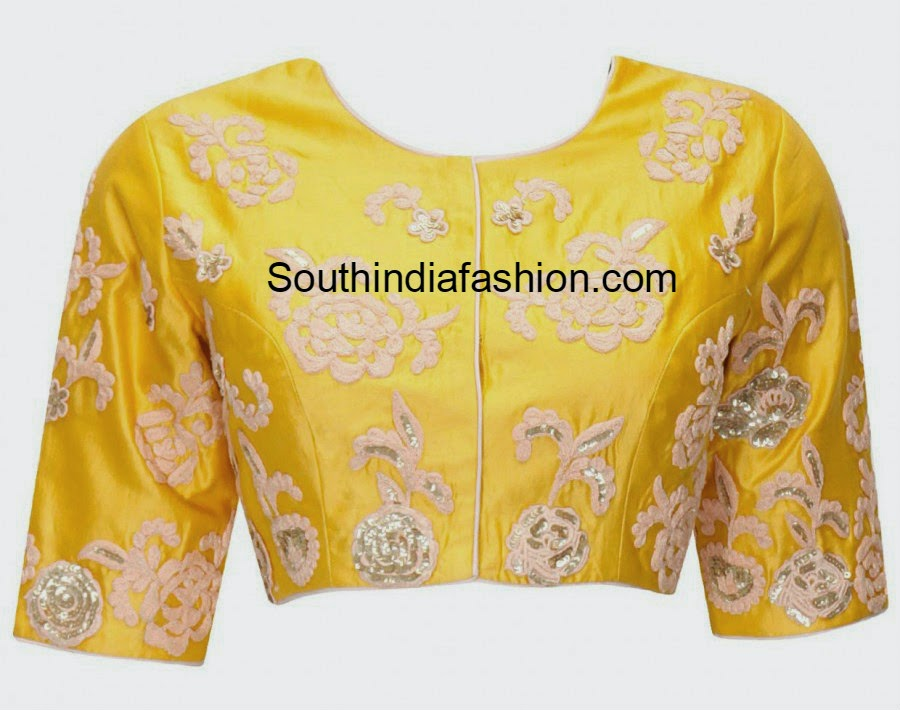 yellow embroidered blouse