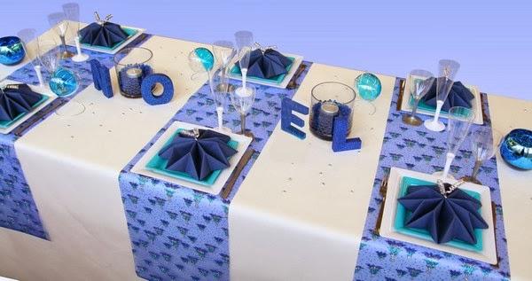 Multinotas mesas navide as decoraci n - Deco table noel bleu argent ...