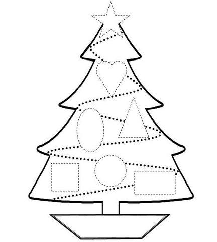Arbol De Navidad Para Pintar Y Imprimir. Simple Top Con Motivos ...