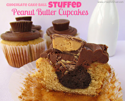 Recipe: Chocolate cake ball stuffed peanut butter cupcakes