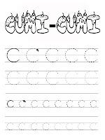 Belajar Menulis Huruf Alfabet C