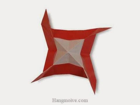 Cách gấp, xếp đĩa quay bằng giấy origami - Video hướng dẫn xếp hình - How to make a Propeller