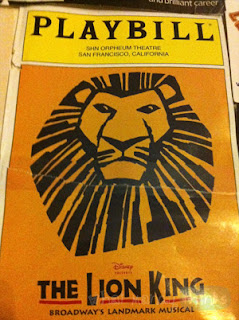 "What Mandy Thinks: Image of the Playbill from Lion King the Musical: ""The PLAYBILL! (It fell off my wall and ripped, sadly.)"""