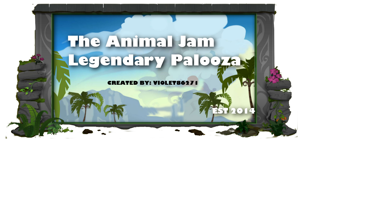 Animal Jam Legendary Palooza
