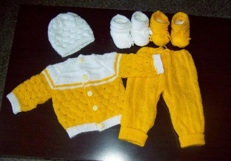 Curso de tejido a mano: Conjunto para bebé recién nacido