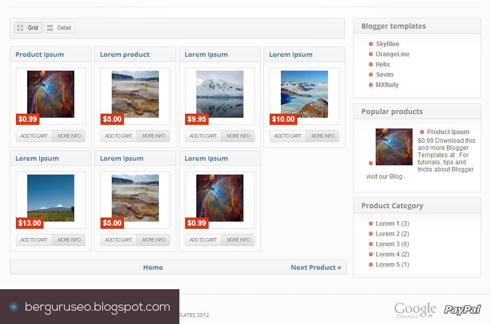 Template Blog Toko Online Blogger Store Grid