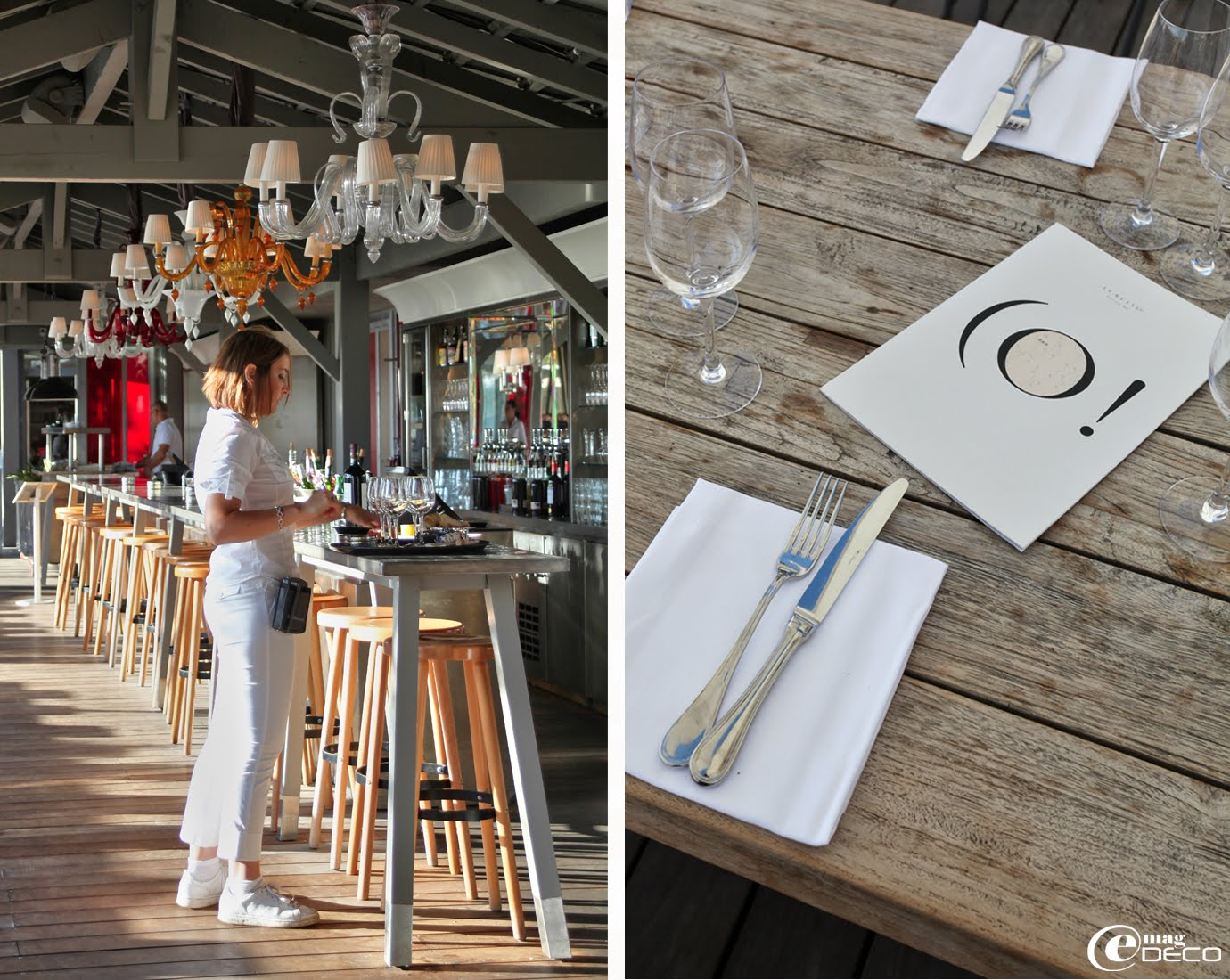 Le bar extérieur de La Co(o)rniche conçu par Philippe Starck