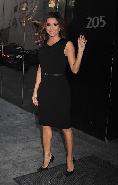 Actress, @ Eva Longoria Leaves Good Day New York